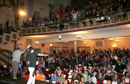 Audience at the Warren Miller event